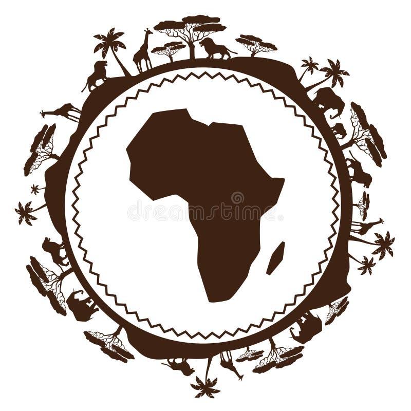 Afrykański pochodzenie etniczne w projekta mieszkania stylu ilustracji