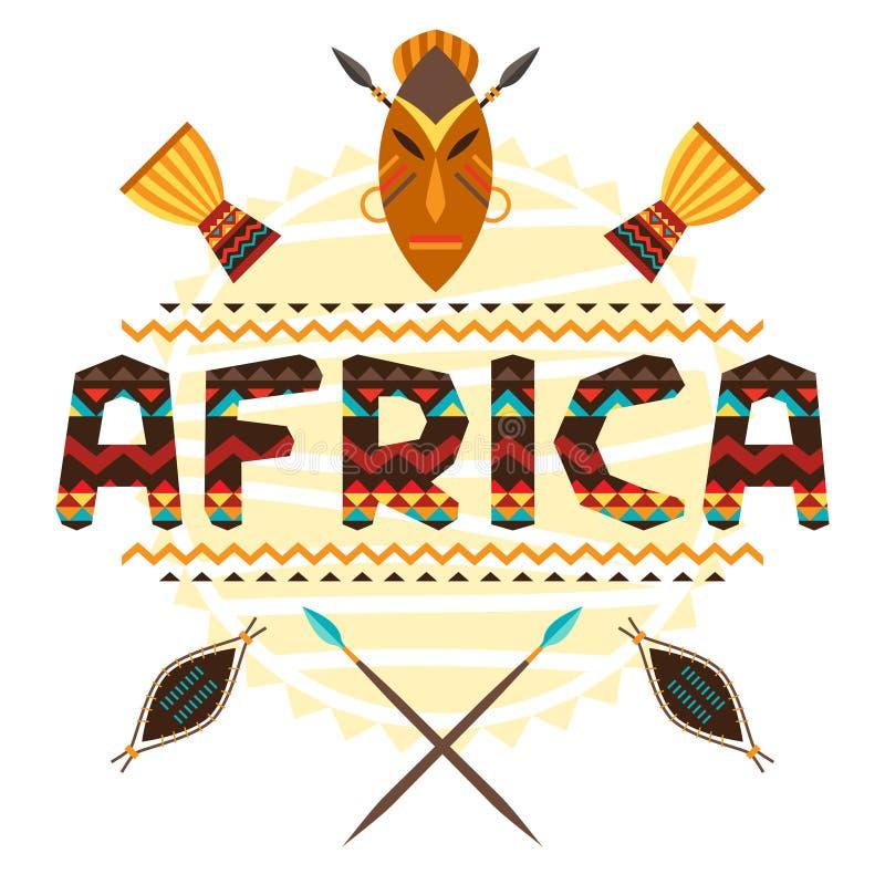 Afrykański pochodzenie etniczne z geometrycznym ornamentem