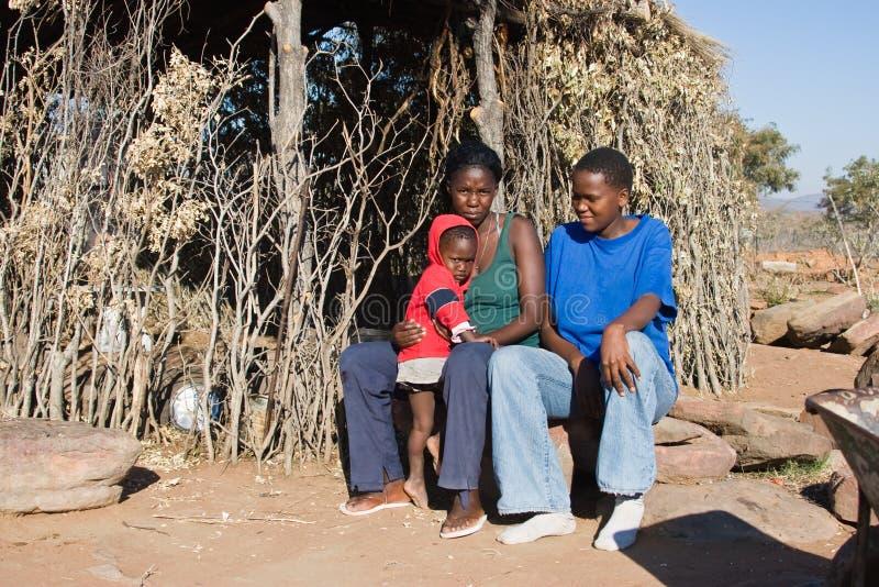 afrykański rodziny zdjęcie stock