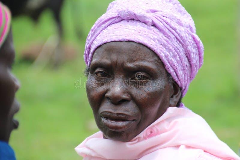 afrykański starsza kobieta obraz stock