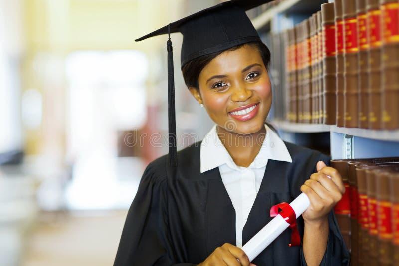 Afrykański szkoła wyższa absolwent obrazy royalty free