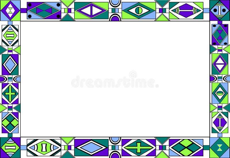 afrykański sztuki ramy wzór s plemienny ilustracji