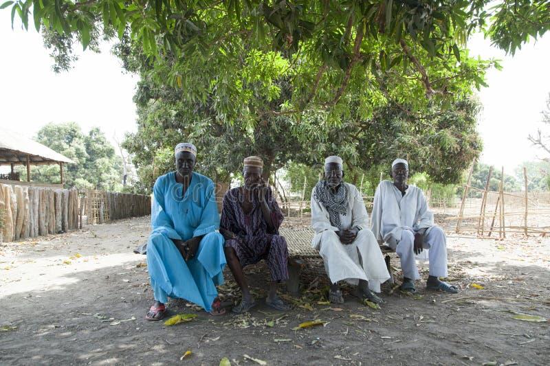 Afrykański wioska szef i starszej osoby rada obrazy stock