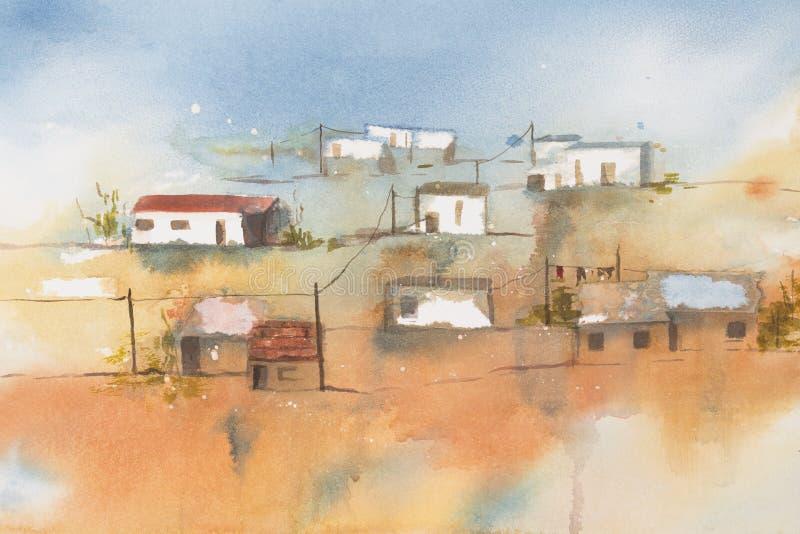 afrykański wioski ilustracja wektor
