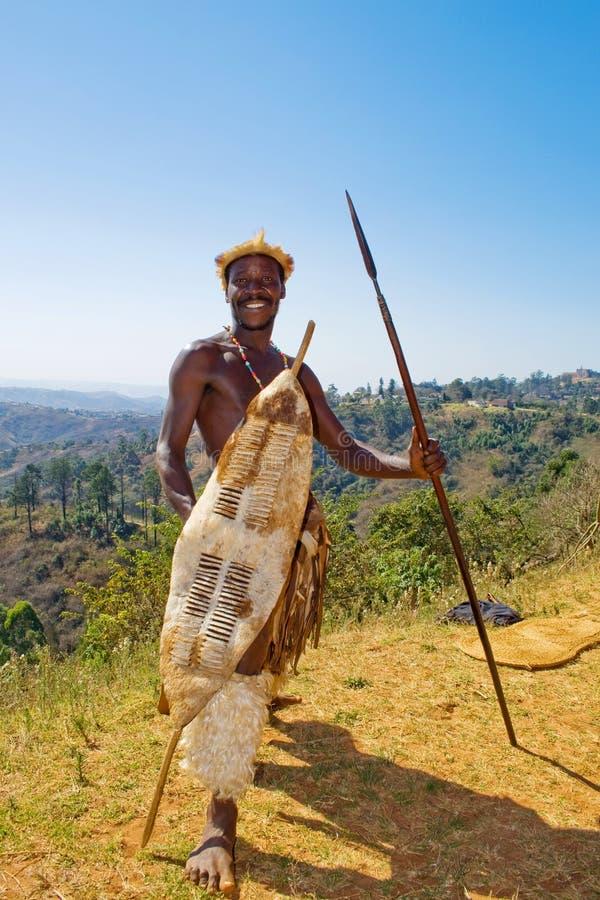 afrykański zulu wojownika. zdjęcia royalty free