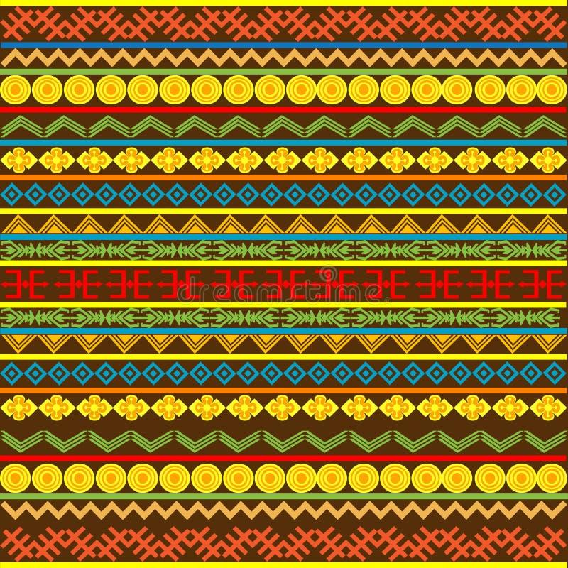 afrykańskich etnicznych motywów stubarwny wzór ilustracji
