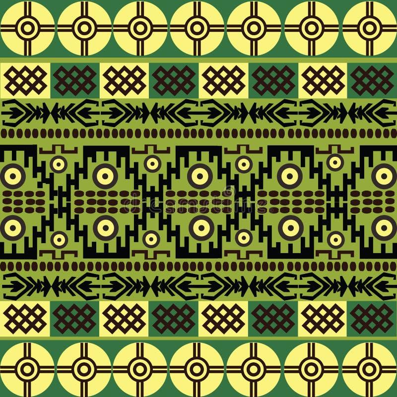 afrykańskich etnicznych ornamentów deseniowi symbole ilustracja wektor