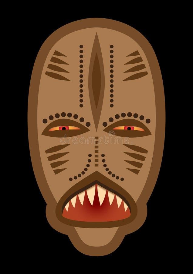 afrykańskie kulturalne maski ilustracja wektor