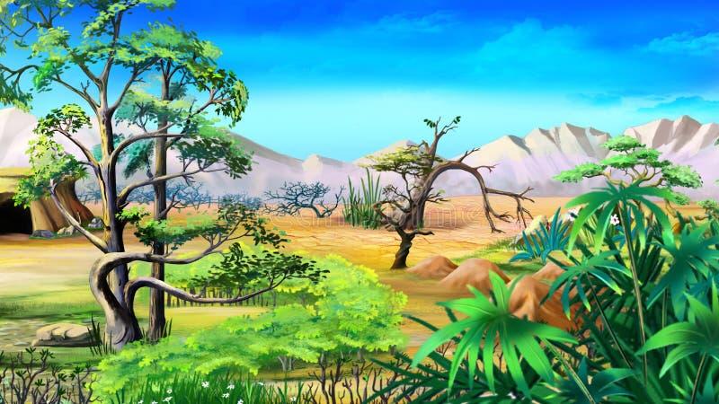 Afrykańskie Rodzime rośliny Dnia widok