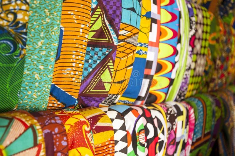 Afrykańskie tkaniny od Ghana, afryka zachodnia obrazy royalty free
