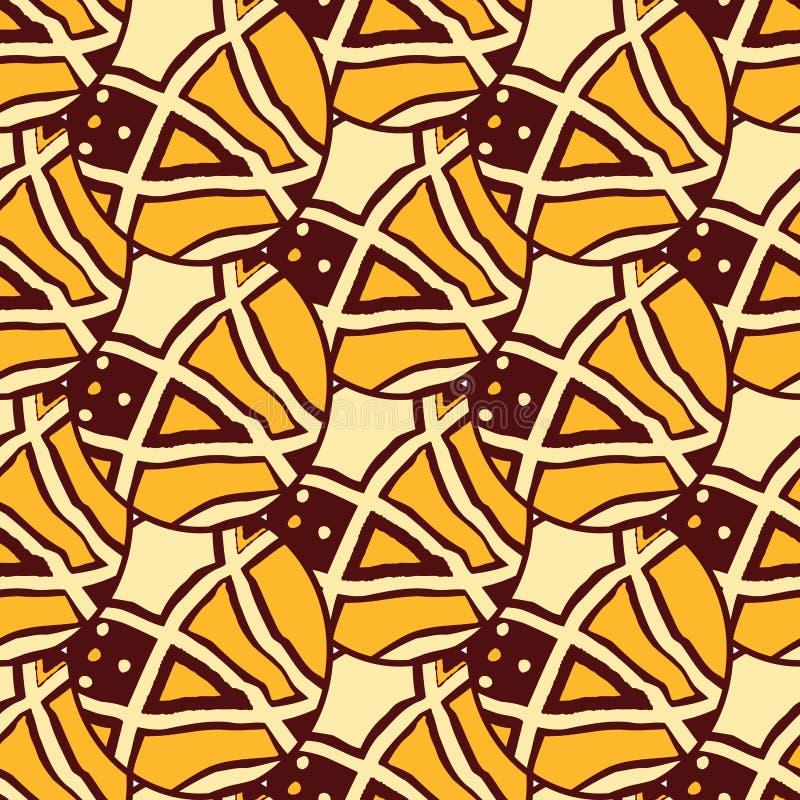 Afrykańskie tkaniny od Ghana, Nigeria, afryka zachodnia Ankara ilustracji