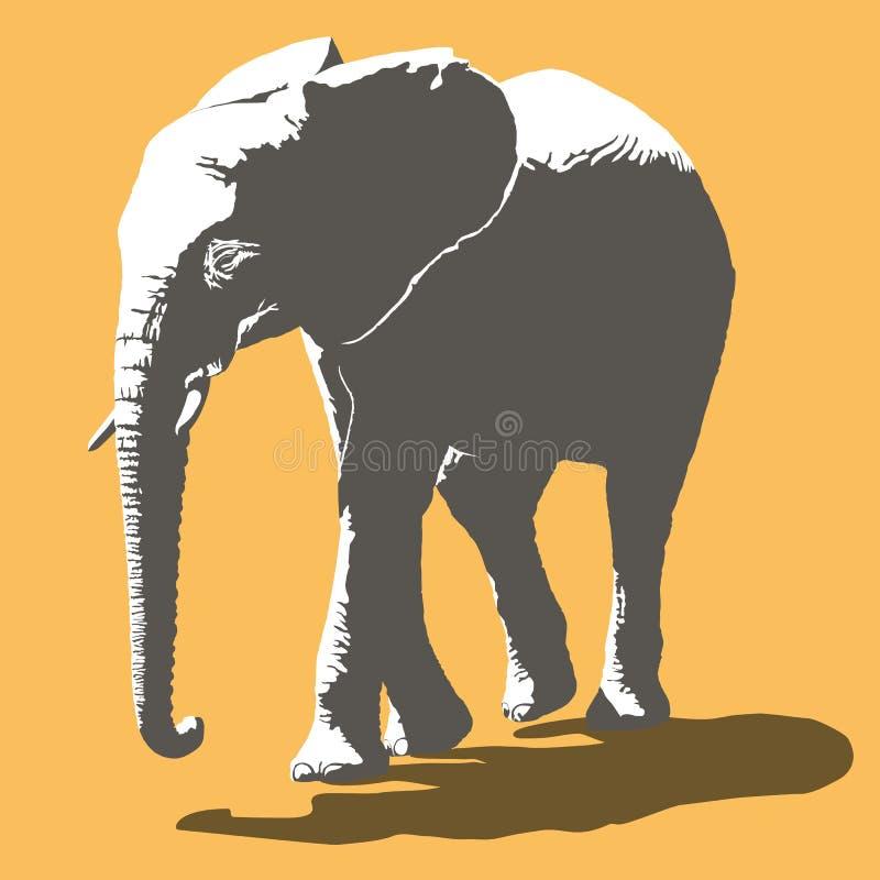 Afrykańskiego słonia wektoru ilustracja
