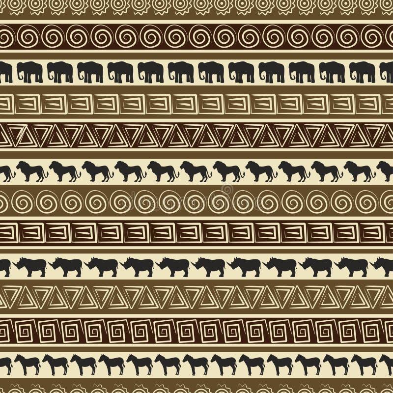 afrykańskiego zwierząt wzoru bezszwowy stylowy dziki ilustracja wektor
