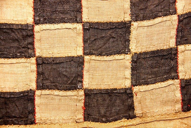 Afrykańskiej Burlap tekstury szorstki wzór i dotyk zdjęcie stock