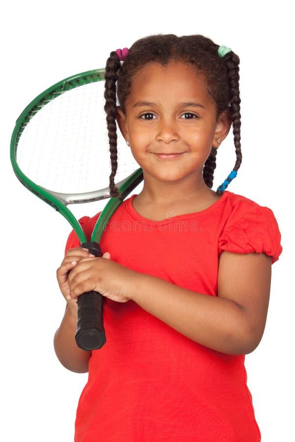 afrykańskiej dziewczyny mały kanta tenis obrazy royalty free