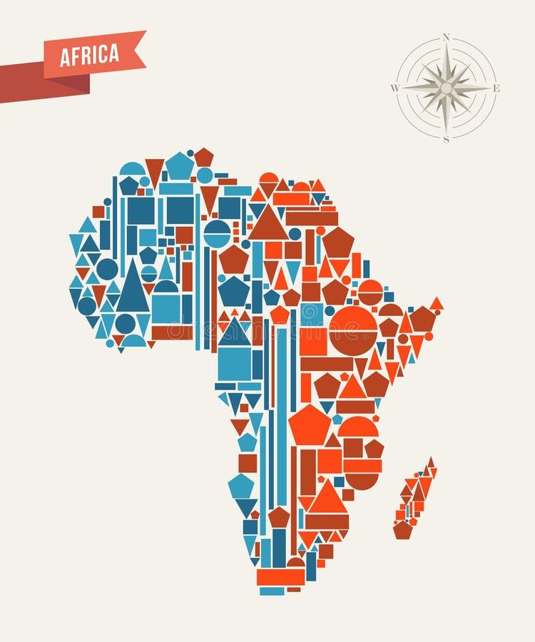 Afryka abstrakcjonistyczna mapa royalty ilustracja