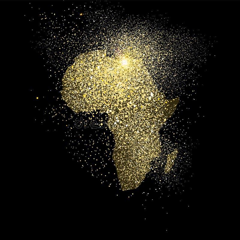 Afryka błyskotliwości pojęcia symbolu złocista ilustracja ilustracji