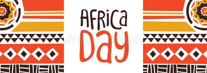 Afryka dnia sztandar z plemienn? sztuki dekoracj? ilustracji
