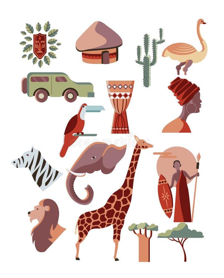 Afryka elementy definitywni ilustracji