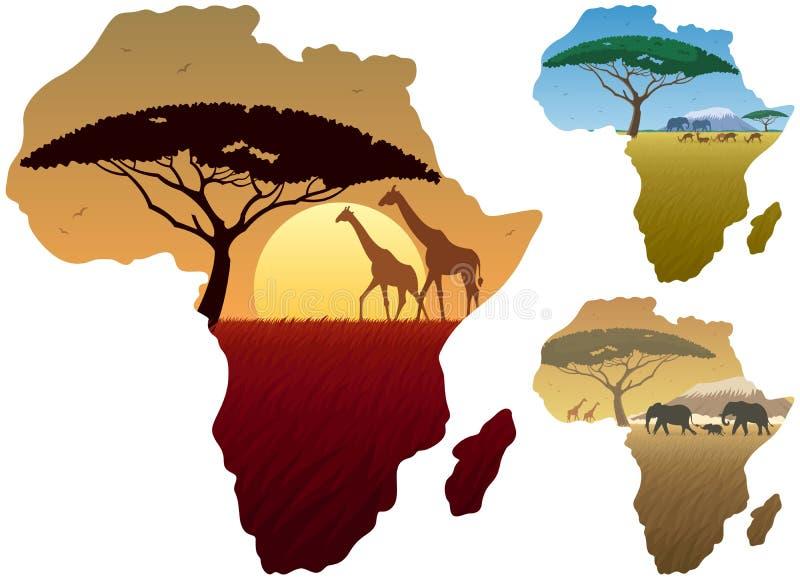 Afryka mapy krajobrazy