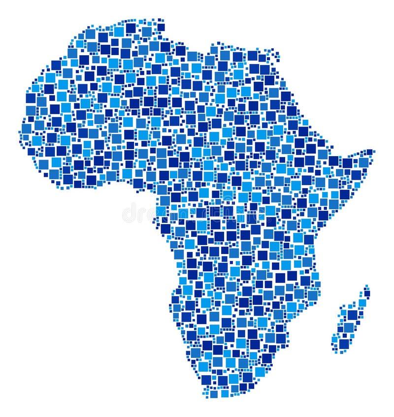 Afryka mapy skład kwadraty royalty ilustracja