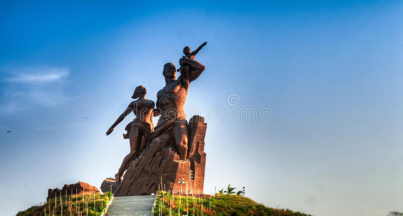 Afryka Renesansowy zabytek, Dakar, Senegal obrazy stock