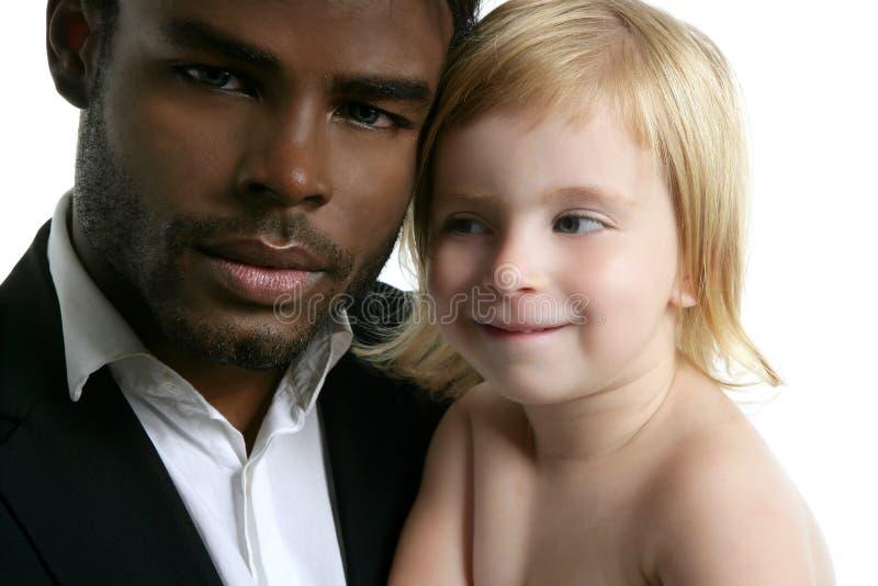 Afrykańskiej Córki Rodzinny Ojciec Zdjęcie Royalty Free