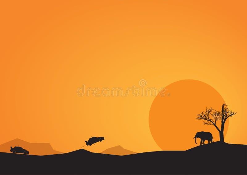 Afryka wiec royalty ilustracja