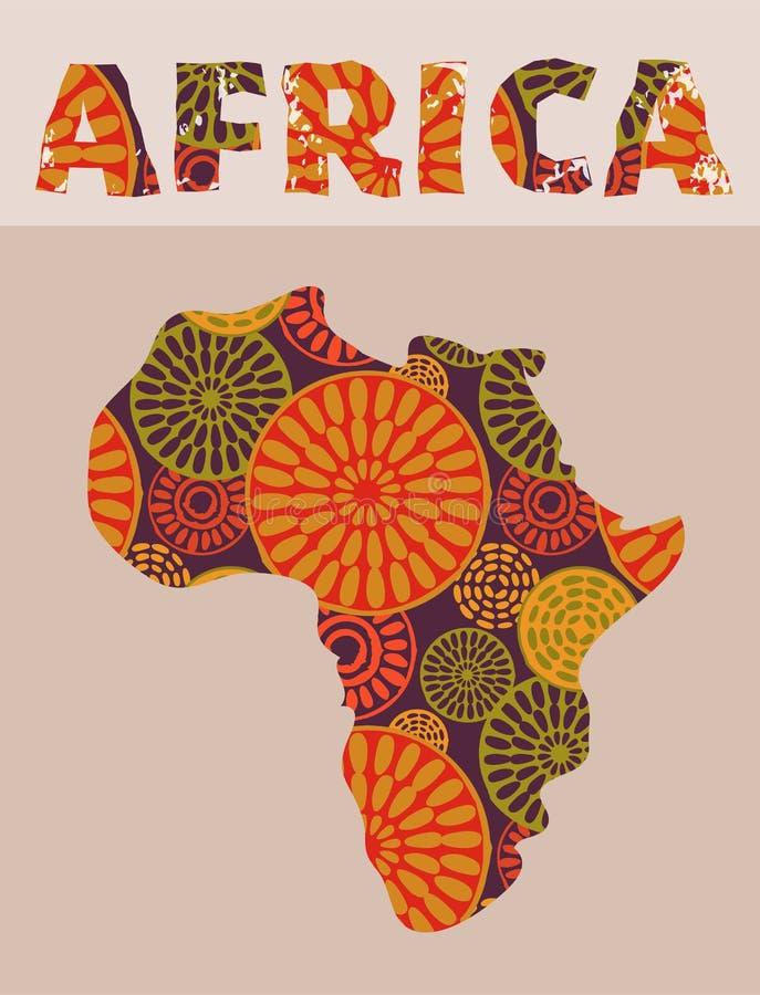 Afryka - wzorzystości mapa ilustracja wektor