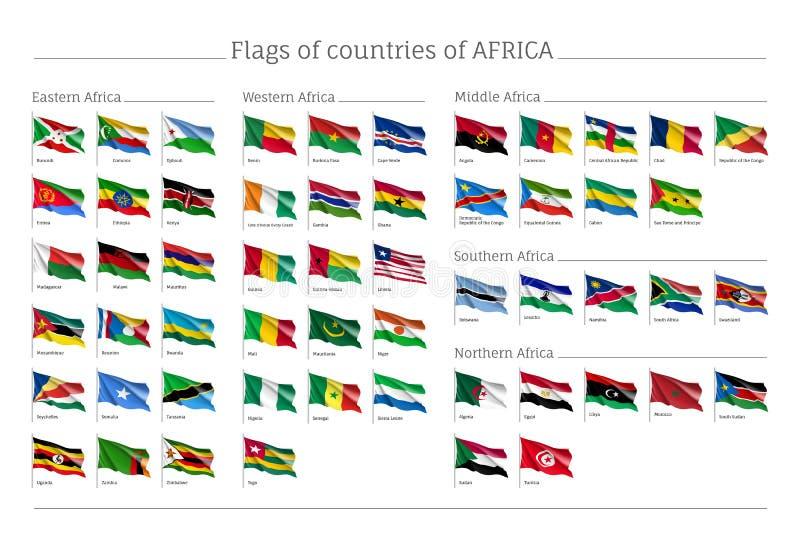 Afryka zaznacza dużego set ilustracji