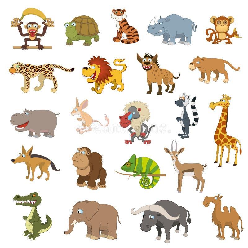 Afryka zwierzęta ustawiający ilustracji