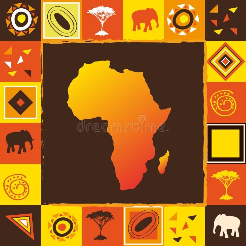 afrykanin bezszwowy royalty ilustracja