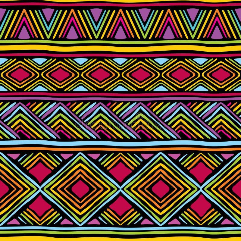 Afrykanin linii wzór ilustracji