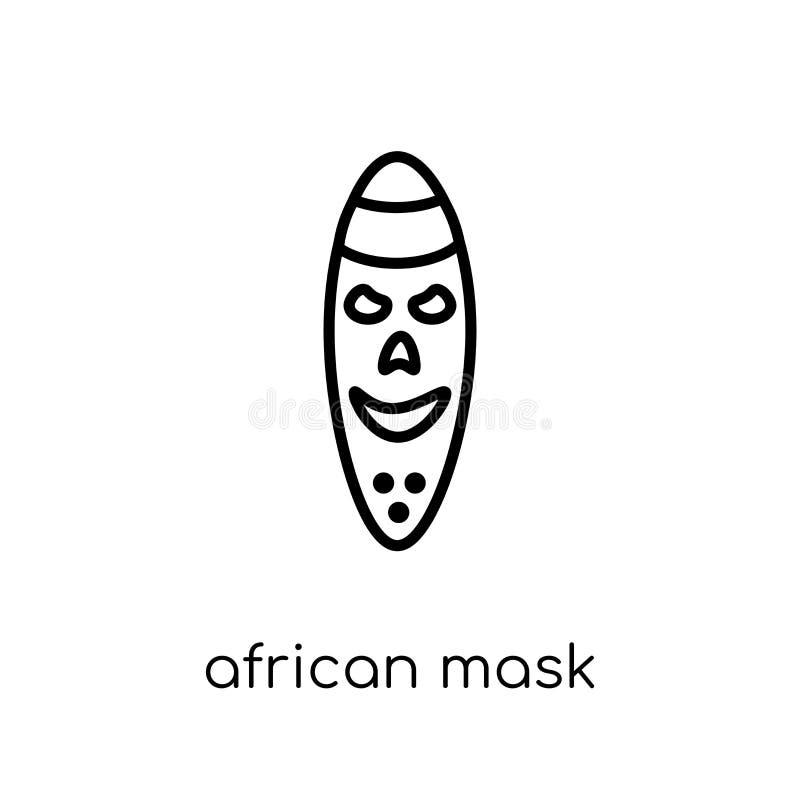 Afrykanin maskowa ikona od Muzealnej kolekcji royalty ilustracja
