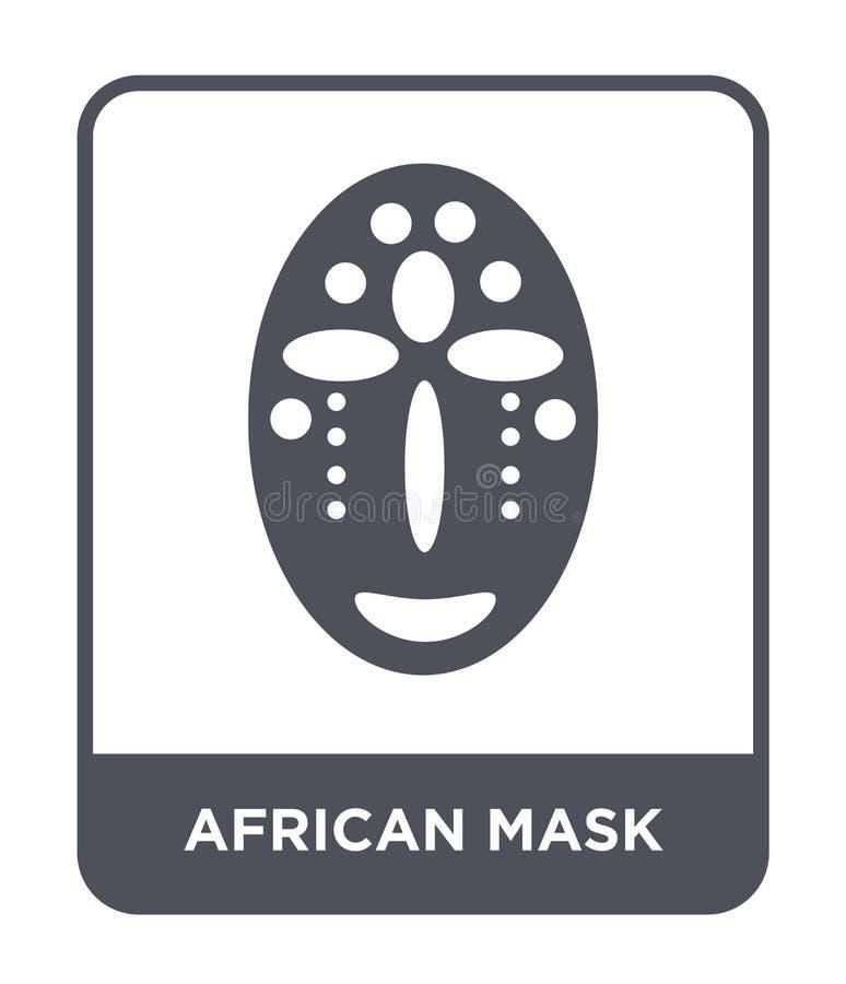 afrykanin maskowa ikona w modnym projekta stylu afrykanin maskowa ikona odizolowywająca na białym tle afrykanin maskowa wektorowa ilustracja wektor