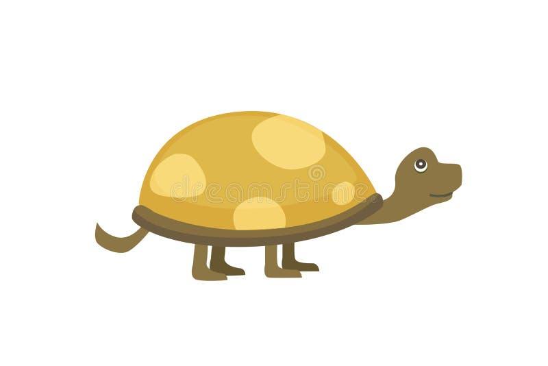 Afrykanin Pobudzająca Tortoise wektoru ilustracja ilustracja wektor