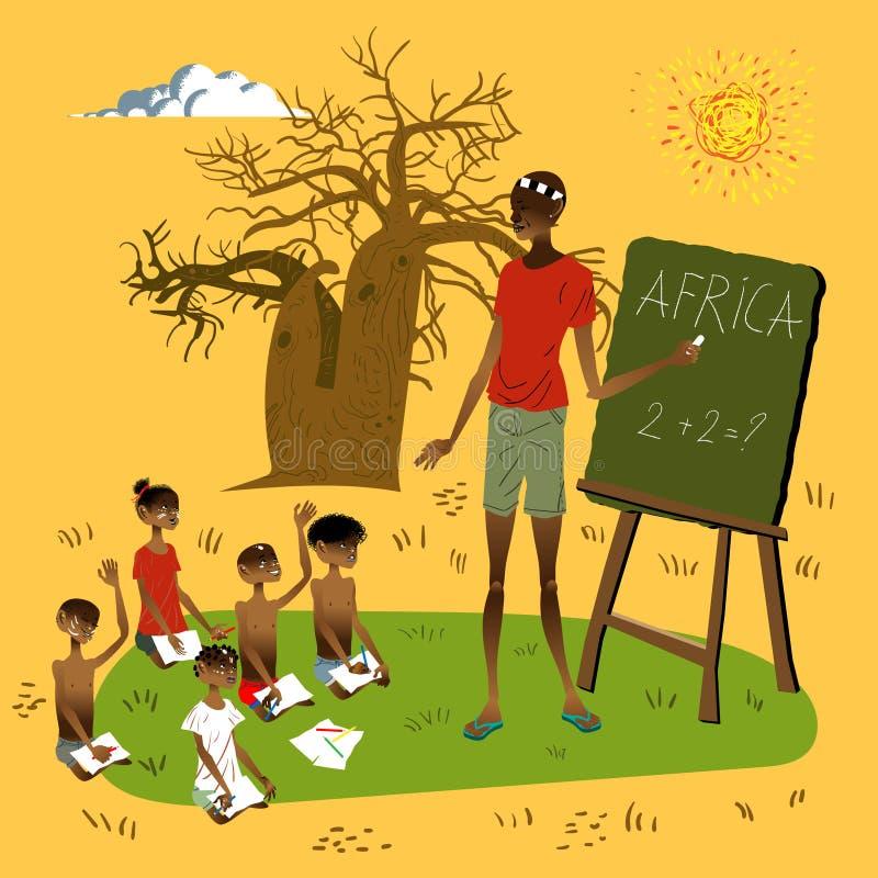 afrykanin szkoła ilustracja wektor