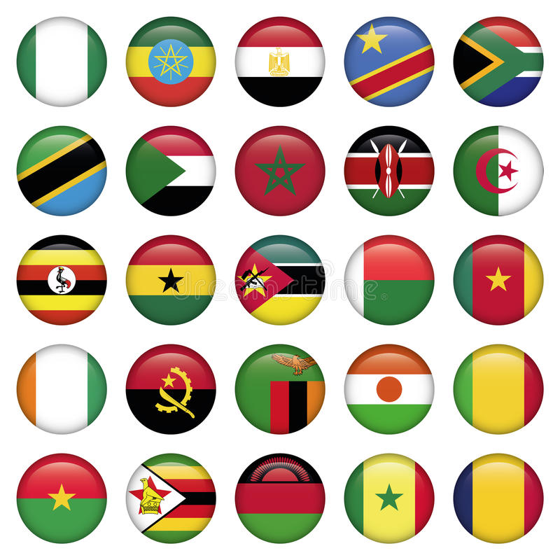 Afrykanin Zaznacza Wokoło ikon royalty ilustracja