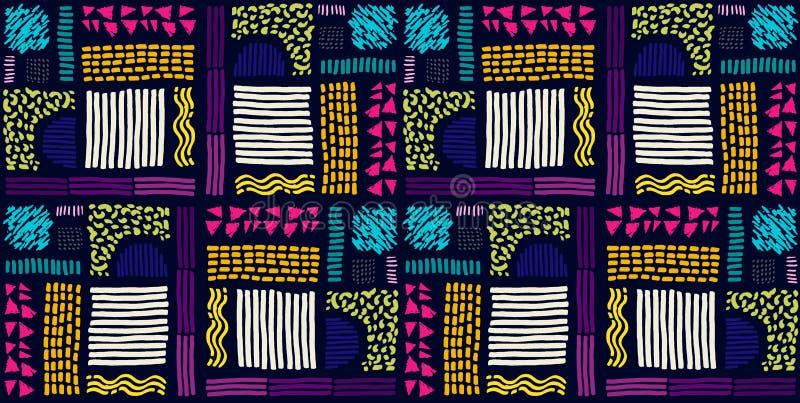 afrykanina bezszwowy deseniowy Etniczny wzór na dywanie royalty ilustracja