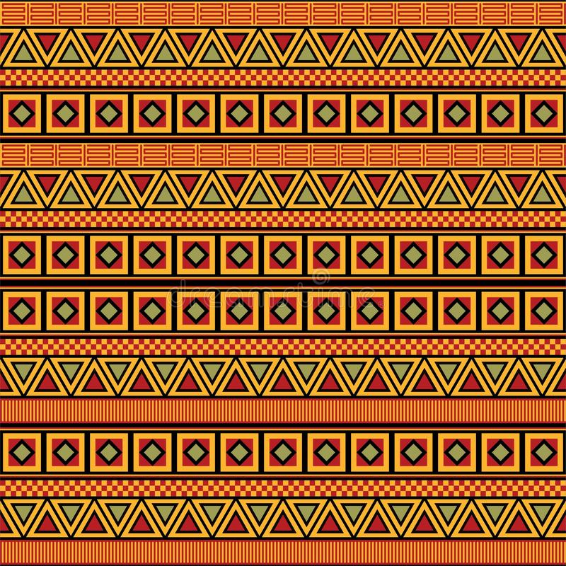 Afrykanina Deseniowy wektor ilustracji