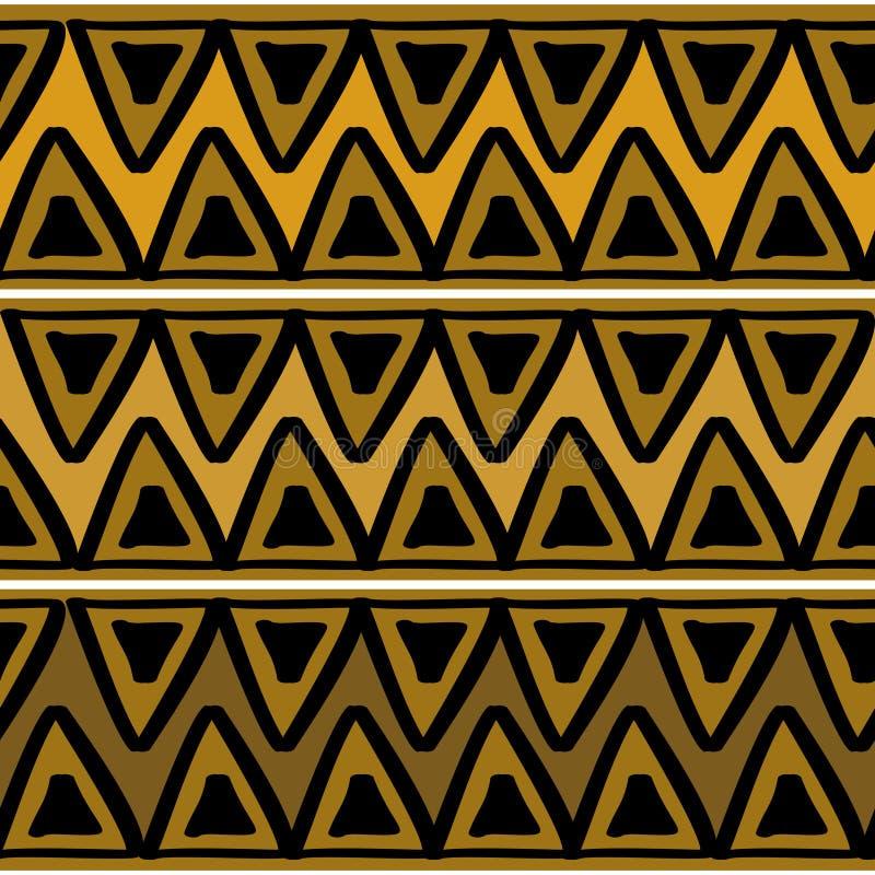 Afrykanina deseniowy wektor z r?ka rysuj?cym plemiennym etnicznym rysunkiem Bezszwowa projekt ilustracja dla mody tkaniny gotowej royalty ilustracja