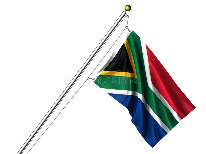 afrykanina flaga odosobneni południe ilustracji