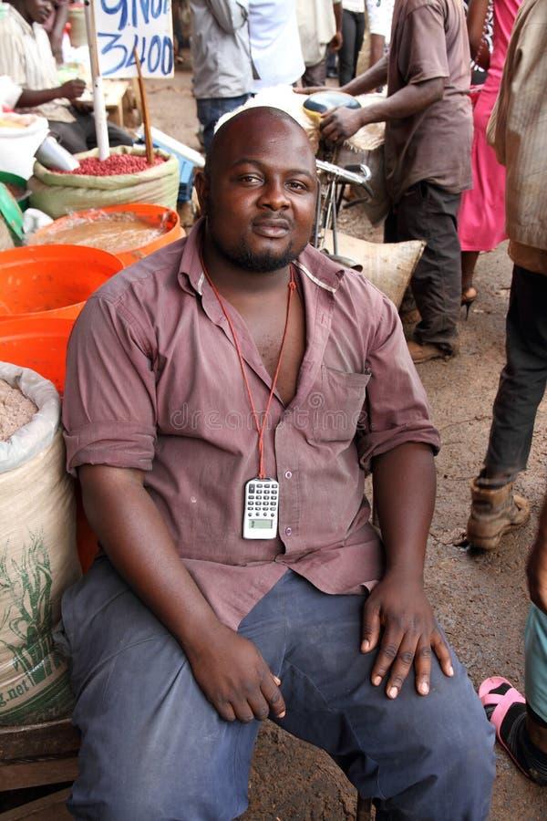 Afrykanina sprzedawcy Targowy portret zdjęcia royalty free