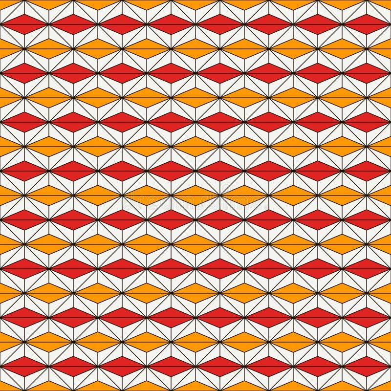 Afrykanina stylowy bezszwowy wzór z abstrakcjonistycznymi postaciami Etniczny i plemienny druk geometryczny tła ornamental royalty ilustracja