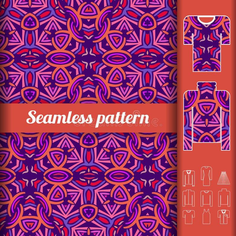 Afrykanina stylowy bezszwowy wzór z przykładami użycie _ ilustracji