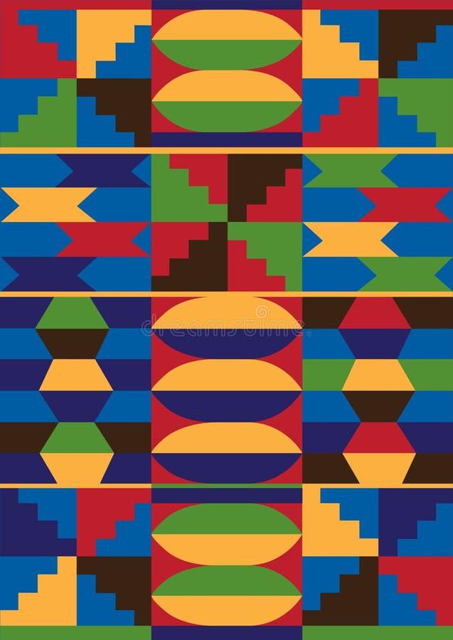 afrykanina wzór ilustracja wektor