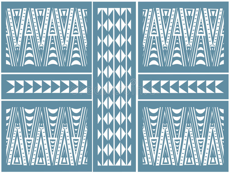 Afrykanina wzór trójboki zdjęcie stock