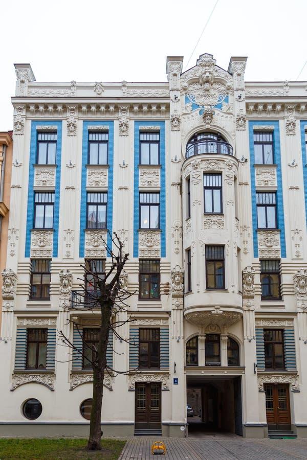 Afscheiding op de straten van de stad van Riga stock fotografie