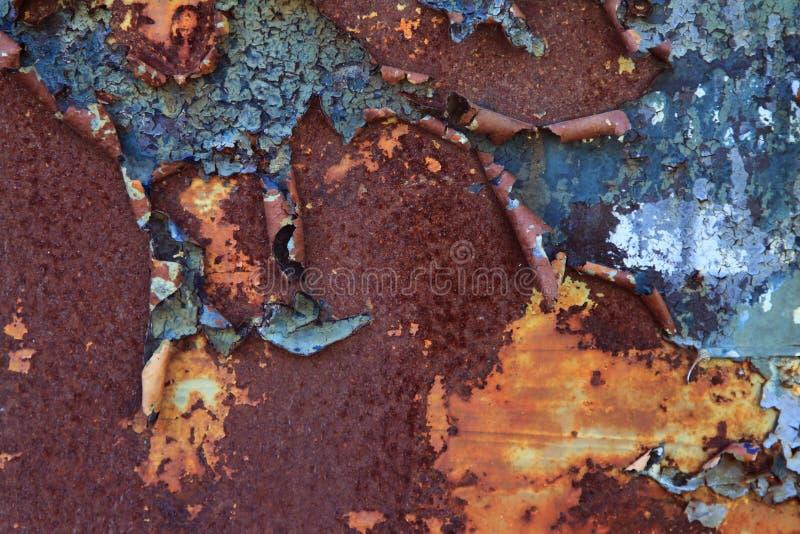 Afschilferende Blauwe Roest stock fotografie