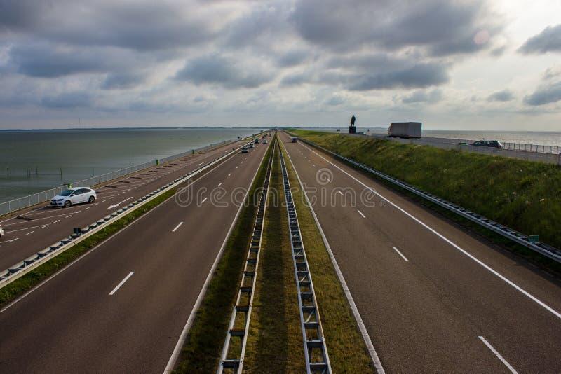 Afsluitdijk stockbilder